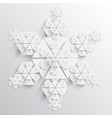 abstract paper snowflake vector image