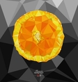 Abstract polygon background with orange vector image
