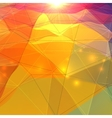 Abstract triangles polygonal surface vector image
