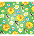 Bees and flowers vector | Price: 1 Credit (USD $1)