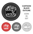 big sale icon in cartoon style isolated on white vector image vector image