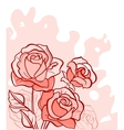 Bouquet of red roses vector image vector image