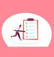 businessman checklist solution questionnaire tick vector image vector image