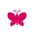 butterfly simple logo design template icon vector image