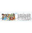 children in carnival costumes pirate vector image vector image