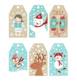 Christmas and new year gift tags vector image