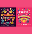 cinco de mayo fiesta vector image vector image