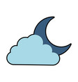 cloud sky with moon vector image vector image