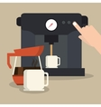 Coffe shop design vector image vector image