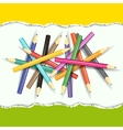 Collection of pencils on abstract background vector image vector image