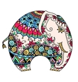 color decorated Indian Elephant vector image vector image