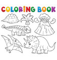 coloring book dinosaur subject image 5 vector image vector image