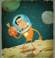 comic astronaut hero vector image vector image