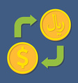 Currency exchange Dollar and Rial vector image vector image