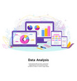 data analysis software for mobile devices and vector image