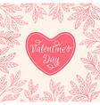 Decorative floral background with heart vector image vector image