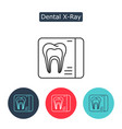dental x-ray line icon isolated on white vector image vector image