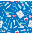 Dentistry seamless pattern of dental care items vector image vector image