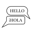 Different languages in speech bubble icon vector image vector image