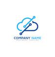 digital cloud logo icon design vector image