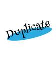 Duplicate rubber stamp
