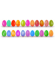 easter eggs set colorful realistic egg design vector image vector image