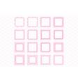 elegant lace border frames laser cut picture vector image vector image