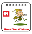 Eleven pipers piping cartoon vector image vector image