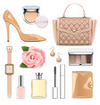 fashion accessories set 2 vector image vector image