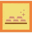 flat shading style icon gold bullion vector image vector image