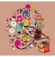 fun gramophone cartoon vector image vector image
