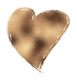 gold glitter heart vector image vector image