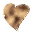 gold glitter heart vector image