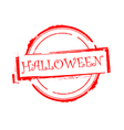 halloween offer rubber stamp on white vector image