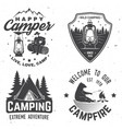 happy camper concept vector image