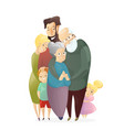 happy family father vector image vector image