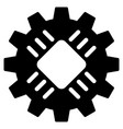 hardware gear flat icon vector image