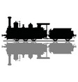historical steam locomotive vector image