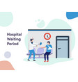 hospital waiting corridor vector image vector image