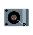 kawaii music dj party turntable technology vector image vector image