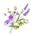 label with lavender vector image vector image