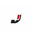 Letter j logo icon vector image vector image