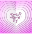 lettering happy valentine s day vector image vector image