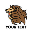lion logo template roaring beast vector image