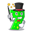 magician number seven isolated on the mascot vector image vector image