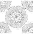 Mandala Black and white round ornament vector image vector image