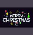 merry christmas greeting card doodling style vector image vector image