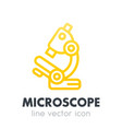 microscope icon in line style on white vector image