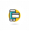 mobile payment flat icon vector image