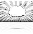 monochrome elegant comic template vector image